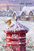 Marcello, CHRISTMAS LANDSCAPES, WEIHNACHTEN WINTERLANDSCHAFTEN, NAVIDAD PAISAJES DE INVIERNO, paintings+++++,ITMCXM1663,#XL# ,red robin