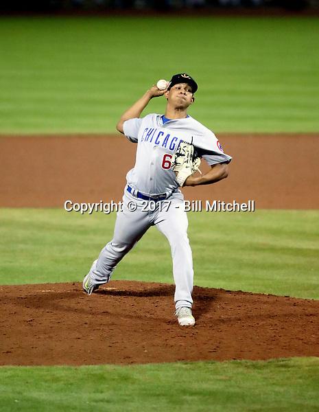 Adbert Alzolay - Mesa Solar Sox - 2017 Arizona Fall League (Bill Mitchell)