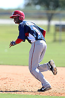 Washington Nationals outfielder Michael Taylor #3 during practice before an Instructional League game against the national team from Italy at Carl Barger Training Complex on September 28, 2011 in Viera, Florida.  (Mike Janes/Four Seam Images)