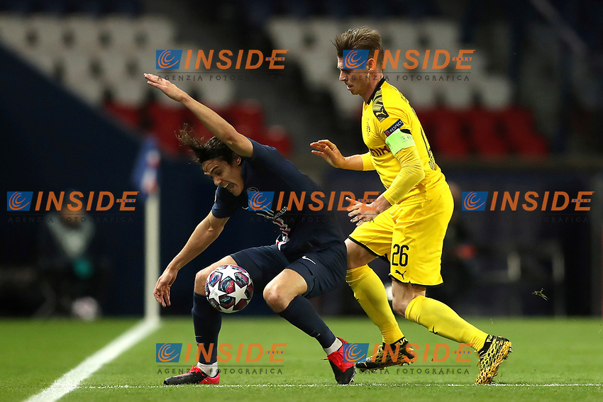 Paris St Germain's Edinson Cavani in action with Borussia Dortmund's Lukasz Piszczek    <br /> Photo Pool/Panoramic/Insidefoto