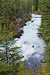 Benham Falls on the Deschutes River; Deschutes National Forest, central Oregon.