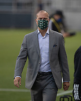 SAN JOSE, CA - SEPTEMBER 16: Coach Giovanni Savarese of the Portland Timbers during a game between Portland Timbers and San Jose Earthquakes at Earthquakes Stadium on September 16, 2020 in San Jose, California.