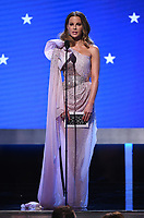 SANTA MONICA, CA - JANUARY 12: Kate Beckinsale onstage at the 25th Annual Critics' Choice Awards at the Barker Hangar on January 12, 2020 in Santa Monica, California. (Photo by Frank Micelotta/PictureGroup)