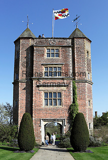 Great Britain, England, Kent, Near Cranbrook: Elizabethan Tower in Sissinghurst Castle Garden, created by Vita Sackville West and Harold Nicolson