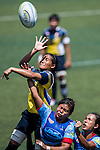 Thailand plays Philippines during the ARFU Asian Rugby 7s Round 1 on August 24, 2014 at the Hong Kong Football Club in Hong Kong, China. Photo by Xaume Olleros / Power Sport Images