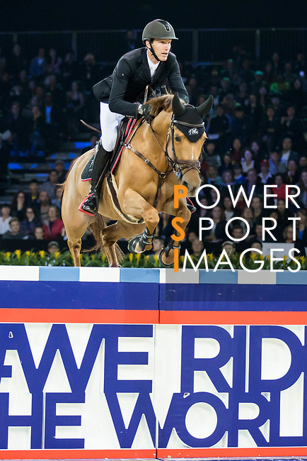 Kevin Staut of France riding Ayade de Septon et HDC competes in the Longines Speed Challenge during the Longines Masters of Hong Kong at AsiaWorld-Expo on 10 February 2018, in Hong Kong, Hong Kong. Photo by Ian Walton / Power Sport Images