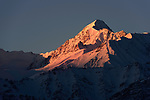 Dawn view of the Himalayas near Leh, Ladadh, India.