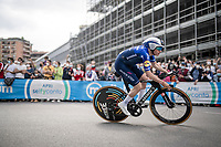 Remco Evenepoel (BEL/Deceuninck-QuickStep) in his first race back since his horrible crash off a bridge at the 2020 Giro di Lombardia<br /> <br /> 104th Giro d'Italia 2021 (2.UWT)<br /> Stage 1 (ITT) from Turin to Turin (8.6 km)<br /> <br /> ©kramon