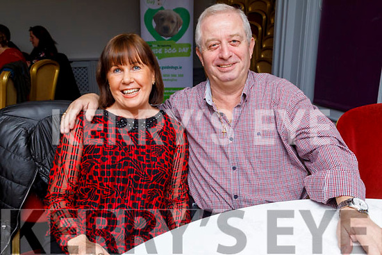 Liz Davis and Mick Mangan attending the Puppy Love -Valentine's Fundraising Dance in aid of the Irish Guide Dogs for the Blind in the Meadowlands Hotel on Friday night.