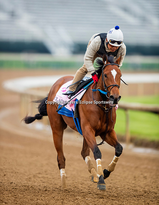 April 25, 2021: Clairiere gallops in preparation for the Kentucky Oaks at Churchill Dows in Louisville, Kentucky on April 25, 2021. EversEclipse Sportswire/CSM