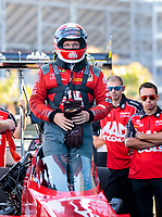 Nov 3, 2019; Las Vegas, NV, USA; NHRA top fuel driver Doug Kalitta during the Dodge Nationals at The Strip at Las Vegas Motor Speedway. Mandatory Credit: Mark J. Rebilas-USA TODAY Sports