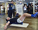 Boxing : Ryota Murata of Japan during media workout