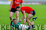 Action from Fossa v Ballyduff in the Junior Premier Football Club Championship.