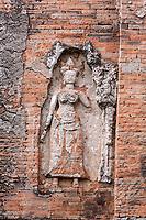 Cambodia, Bakong, Ninth Century. Female Guardian of Shiva Shrine.