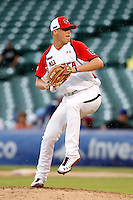 Pitcher Russell Reynolds #6 during the Under Armour All-American Game at Wrigley Field on August 13, 2011 in Chicago, Illinois.  (Mike Janes/Four Seam Images)
