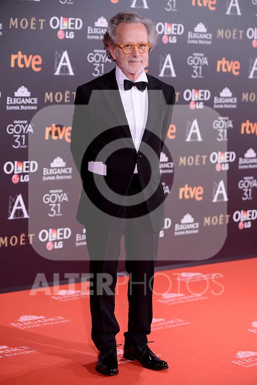Fernando Colomo attends to the Red Carpet of the Goya Awards 2017 at Madrid Marriott Auditorium Hotel in Madrid, Spain. February 04, 2017. (ALTERPHOTOS/BorjaB.Hojas)