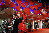Lorenzo Vigas attends the red carpet for the Winners of the 72nd Venice Film Festival at the Palazzo Del Cinema in Venice, Italy September 12, 2015.<br /> UPDATE IMAGES PRESS/Stephen Richie