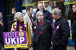 © Joel Goodman - 07973 332324 . 20/11/2014 . Kent , UK . UKIP activists outside the UKIP shop on High Street Rochester . The Rochester and Strood by-election campaign following the defection of sitting MP Mark Reckless from Conservative to UKIP . Photo credit : Joel Goodman