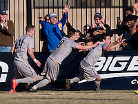 Washington, DC - November 30, 2014: Georgetown defeated Syracuse 2-1 in overtime during the NCAA tournament at Shaw Field.