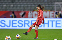 Belgian Silke Vanwynsberghe (18) pictured during a friendly female soccer game between the national teams of Belgium , called the Red Flames and The Netherlands , called the Oranje Leeuwinnen in a pre - bid tournament called Three Nations One Goal with the national teams from Belgium , The Netherlands and Germany towards a bid for the hosting of the 2027 FIFA Women's World Cup , on Thursday 18 th of February 2021  in Brussels , Belgium . PHOTO SPORTPIX.BE   SPP   DAVID CATRY