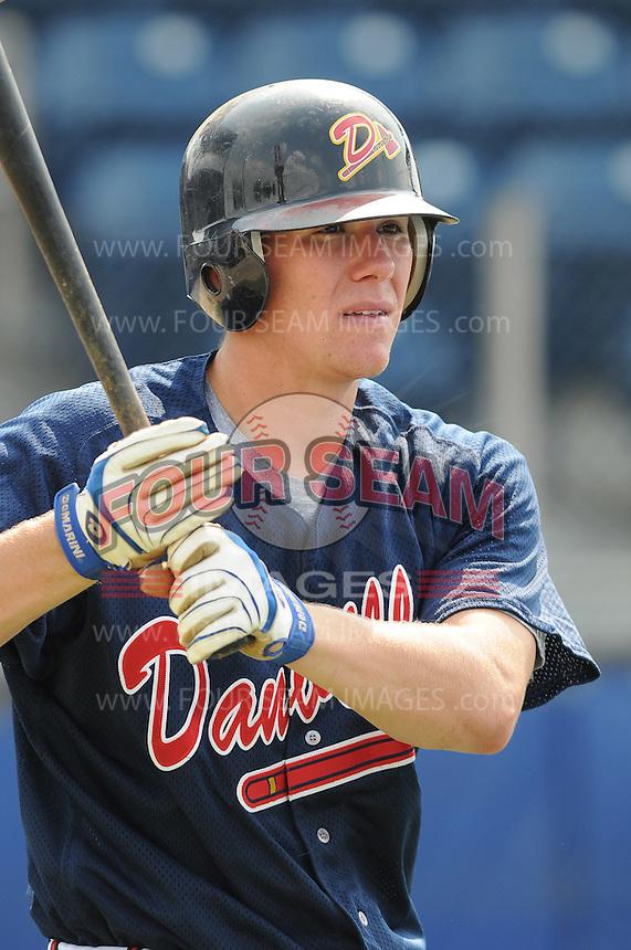 July 15, 2009: Infielder Jordan Kreke (19) of the Danville Braves, rookie Appalachian League affiliate of the Atlanta Braves, before a game at Dan Daniel Memorial Park in Danville, Va. Photo by:  Tom Priddy/Four Seam Images