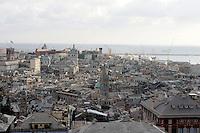 Veduta di Genova, col porto antico sullo sfondo.<br /> Cityscape of Genoa, with the old port on background.<br /> UPDATE IMAGES PRESS/Riccardo De Luca