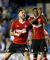 Ipswich Town's Luke Chambers rallies the fans at the end of the match  during the Sky Bet Championship match between Millwall and Ipswich Town at The Den, London, England on 15 August 2017. Photo by Carlton Myrie.