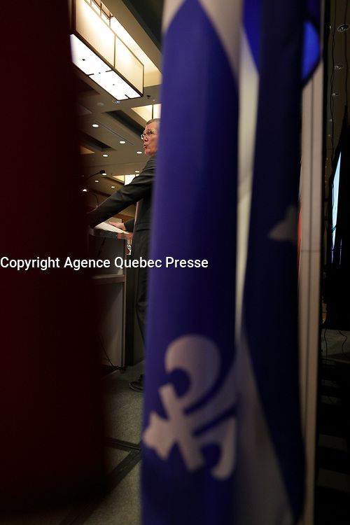 Pierre Gabriel Cote, President & CEO of Investissement Quebec, delivers a speech to the Canadian Club of Montreal, Monday April 3, 2017.<br /> <br /> Photo : Agence Quebec Presse