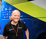 Brian Nygaard outside the Orica GreenEdge bus before the start of Stage 3 of the 99th edition of the Tour de France 2012, running 197km from Orchies to Boulogne-sur-Mere, France. 3rd July 2012.<br /> (Photo by Eoin Clarke/NEWSFILE)