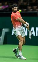 Rotterdam, The Netherlands, 11 Februari 2019, ABNAMRO World Tennis Tournament, Ahoy, first round singles: Nikoloz Basilashvili (GEO),<br /> Photo: www.tennisimages.com/Henk Koster
