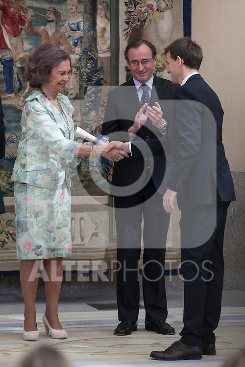 Queen Sofia of Spain attends 'Reina Sofia Awards' for Integration and Rehabilitation for people with disabilities at El Pardo Palace in Madrid, Spain. April 29, 2015. (ALTERPHOTOS/Victor Blanco)