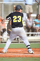 Hunter Williams, #23 of Cosby High School, VA playing for the Evoshield Canes Team during the WWBA World Championship 2013 at the Roger Dean Complex on October 27, 2013 in Jupiter, Florida. (Stacy Jo Grant/Four Seam Images)