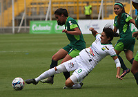BOGOTA -COLOMBIA, 16-04-2017.Action game between  La Equidad and Huila during match for the date 8 of the Women´s  Aguila League I 2017 played at Metroplitano de Techo stadium . Photo:VizzorImage / Felipe Caicedo  / Staff