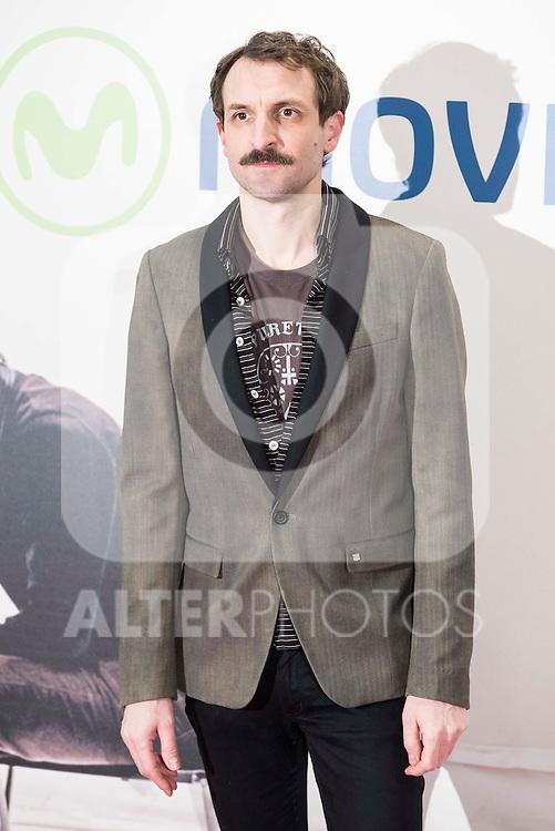 "Julian Villagran attends to the premire of the film ""Que fue de Jorge Sanz"" at Cinesa Proyecciones in Madrid. February 10, 2016."