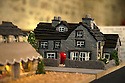 """08/12/16<br /> <br /> Granby House  - care home - cake shows Christmas dinner set for eight people.<br /> <br /> In this incredibly detailed replica of a small Peak District village, everything is edible, from the baubles on the Christmas trees to the flowers around the houses and what's more the """"village"""" is made from 35 individual rich fruit Christmas cakes which will be eaten on the 25th!<br /> <br /> The amazing model village is made up of 18 shops and houses, which are all realistic reproductions of the actual buildings found in Youlgreave, and is open to the public to view at All Saints' church, the main focal point of the miniature masterpiece.<br /> <br /> Retired florist Lynn Nolan, who decorated all the cakes, came up with the original idea as a way of raising money for the church, which needs a new roof, and the first of the cakes went in the oven back in April.<br /> <br /> MORE...https://fstoppressblog.wordpress.com/the-village-thats-really-a-christmas-cake/<br /> <br /> All Rights Reserved F Stop Press Ltd. (0)1773 550665   www.fstoppress.com"""