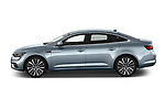 Car Driver side profile view of a 2021 Renault Talisman Intens 4 Door Sedan Side View