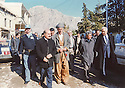 Iraq 2002 <br /> In Amadia, right, Benon Sevan,head of the United Nations'Oil-for-Food Programme and 2nd left, Nechirvan Ahmed , governor of Duhok<br />  Irak 2002  <br /> A Amadia, Benon Sevan, chef du programme petrole contre nourriture et 2eme a gauche, Nechirvan Ahmed, gouverneur de Dohok