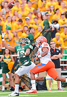 September 15, 2012: Baylor receiver LEVI NORWOOD (42), attempts to catch a pass during NCAA Football game at the Floyd Casey Stadium in Waco, Texas. Bears defeat Bearkats 48-23.