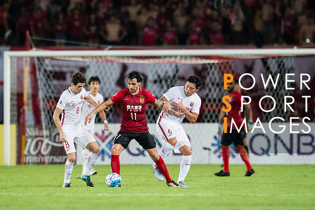 Guangzhou Evergrande (CHN) vs Shanghai SIPG (CHN) during the AFC Champions League 2017 Quarter-Finals match at the Tianhe Stadium on 13 September 2031 in Guangzhou, China. Photo by Marcio Rodrigo Machado / Power Sport Images