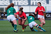 Lleucu George of Wales in action during the Women's Six Nations match between Wales and Ireland at Cardiff Arms Park, Cardiff, Wales, UK. Sunday 17 March 2019