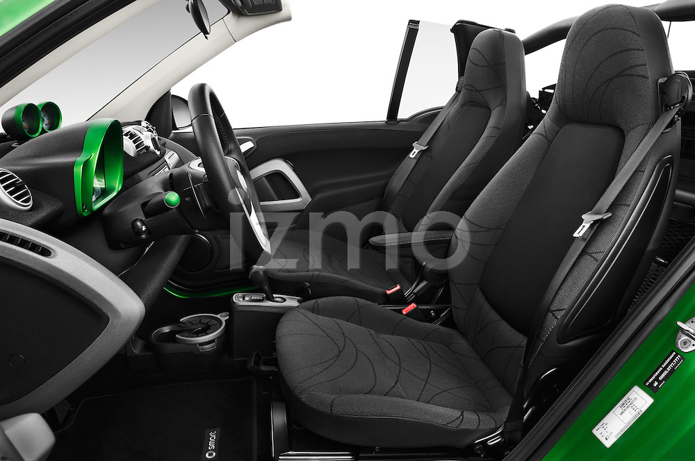 Front seat view of a 2013 Smart FOR TWO Electric Drive 2 Door Convertible Front Seat car photos