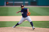 Toledo Mudhens relief pitcher Angel Nesbitt (40) during a game against the Rochester Red Wings on June 12, 2016 at Frontier Field in Rochester, New York.  Rochester defeated Toledo 9-7.  (Mike Janes/Four Seam Images)