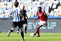 Nottingham Forest's Sammy Ameobi under pressure from Sheffield Wednesday's Kieran Lee <br /> <br /> Photographer Rich Linley/CameraSport<br /> <br /> The EFL Sky Bet Championship - Sheffield Wednesday v Nottingham Forest - Saturday 20th June 2020 - Hillsborough - Sheffield <br /> <br /> World Copyright © 2020 CameraSport. All rights reserved. 43 Linden Ave. Countesthorpe. Leicester. England. LE8 5PG - Tel: +44 (0) 116 277 4147 - admin@camerasport.com - www.camerasport.com