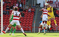 Fleetwood Town's Paddy Madden heads towards goal<br /> <br /> Photographer David Shipman/CameraSport<br /> <br /> The EFL Sky Bet League One - Doncaster Rovers v Fleetwood Town - Saturday 17th August 2019  - Keepmoat Stadium - Doncaster<br /> <br /> World Copyright © 2019 CameraSport. All rights reserved. 43 Linden Ave. Countesthorpe. Leicester. England. LE8 5PG - Tel: +44 (0) 116 277 4147 - admin@camerasport.com - www.camerasport.com