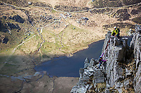 Sunny mountaineering day in North Wales, United Kingdom