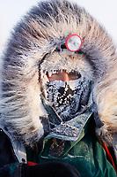 Portrait of musher Sonny Lindner at Kaltag on a cold 20 degrees below zero morning, Iditarod 2009, Alaska