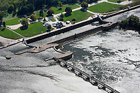 aerial photograph Starved Rock Lock and Dam, Illinois River