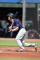 GCL Red Sox outfielder Derek Miller (46) at bat during a game against the GCL Rays on June 24, 2014 at Charlotte Sports Park in Port Charlotte, Florida.  GCL Red Sox defeated the GCL Rays 5-3.  (Mike Janes/Four Seam Images)