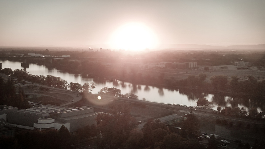 """I took this shot of the sun setting over the Sacramento River this afternoon. It's one of those daily occurrences, yet it's very relaxing and satisfying to watch. <br /> <br /> """"The biggest cliche in photography is sunrise and sunset.""""<br /> -Catherine Opie<br /> <br /> http://www.sacriver.org/aboutwatershed/roadmap/sacramento-river-basin <br /> https://www.sacramentoriver.org/<br /> https://www.sacramentoriver.org/forum/"""