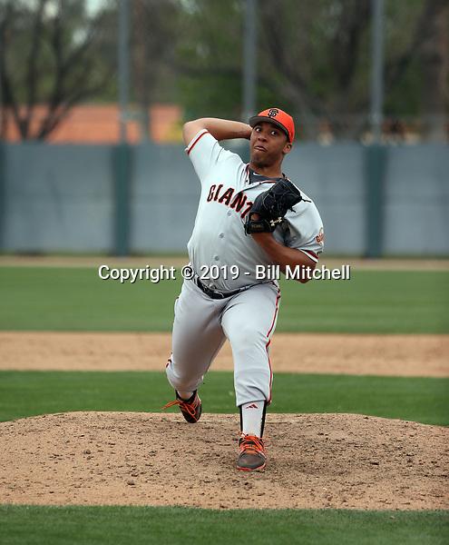 Solomon Bates - San Francisco Giants 2019 spring training (Bill Mitchell)